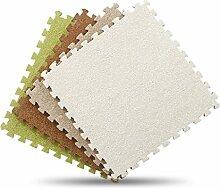 GWELL EVA Schaumstoff Puzzlematte mit Kurzflor Bodenmatte Spielteppich Spielmatte für Kinderzimmer Wohnzimmer 30x30cm Hellgrau Stück x9