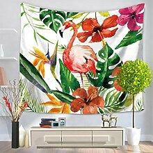 GWELL Flamingo Wandteppich Wandbehang Tischdecke Strandtuch Tapestry Muster wählbar Muster-C 150*200cm