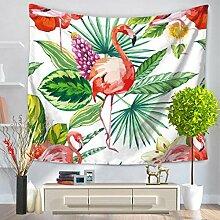 GWELL Flamingo Wandteppich Wandbehang Tischdecke Strandtuch Tapestry Muster wählbar Muster-A 150*200cm