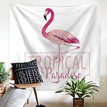 GWELL Flamingo Wandteppich Wandbehang Tischdecke Tapestry Strandtuch Wandtuch Wall Hanging Muster wählbar Muster-D 150*130cm