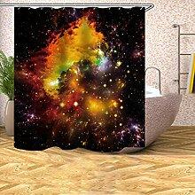 GWELL Galaxie Anti-Schimmel Duschvorhang