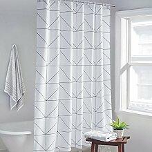 GWELL Karo Duschvorhang Badewannevorhang