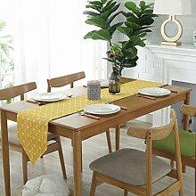 GWELL Karo Tischläufer Mitteldecke Tischband