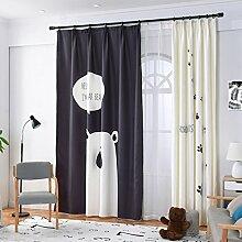 GWELL Kinderzimmer Gardinen Vorhang Bär Motiv