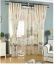 GWELL Kinderzimmer Gardinen Vorhang