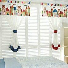 GWELL Kinderzimmer Gardinen Vorhang Schlaufenschal
