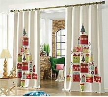 GWELL Kinderzimmer Gardinen Vorhang Weihnachten