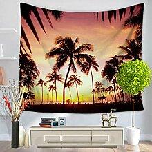 GWELL Landschaft Fotodruck Wandteppich Wandbehang Tapestry Tischdecke Strandtuch Esszimmer Muster-E 150*200cm