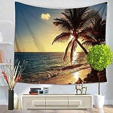 GWELL Landschaft Fotodruck Wandteppich Wandbehang Tapestry Tischdecke Strandtuch Esszimmer Muster-A 150*200cm