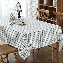 GWELL Leinen Tischdecke Eckig Abwaschbar Tischtuch