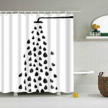 GWELL Lustig Duschvorhang Wasserdicht