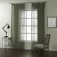 GWELL Luxus Elegant Transparent Vorhang Gardine