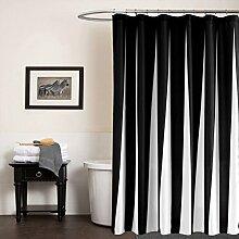GWELL Schwarz Weiß Wasserdichter Duschvorhang