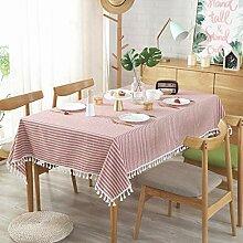 GWELL Streifen Tischdecke Eckig Baumwolle mit