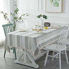 GWELL Streifen Tischdecke Eckig Wasserabweisend