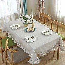 GWELL Tischdecke Baumwolle Leinen Tischtuch mit