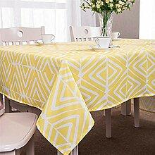 GWELL Tischdecke Eckig Abwaschbar Oxford Tischtuch