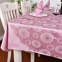 GWELL Tischdecke Eckig Premium Jacquard Baumwolle Tischtuch Gartentischdecke Pflegeleicht Schmutzabweisend Tischwäsche 140*260cm