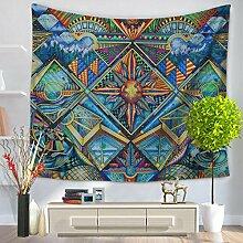 GWELL Wandteppich Psyschedelic Art Wandbehang