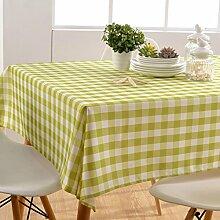 GWELL Wasserdicht Wachstuch Karo Tischdecke Eckig Abwaschbar Tischtuch Pflegeleicht Schmutzabweisend Farbe & Größe wählbar grün 145*145cm