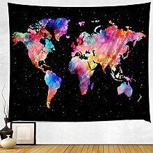 GWELL Weltkarte Wandteppich Tapisserie Wandbehang