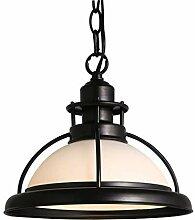 GWFVA Eisen und Glas Deckenleuchte Lampenschirm