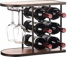 GWFVA Weinhalter Freistehender Tisch Weinregal  