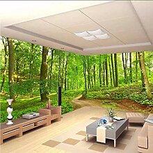 Gwgdjk Benutzerdefinierte 3D Fototapete Wald Baum