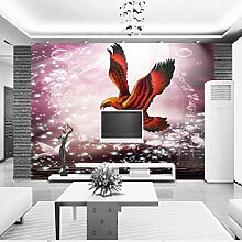 Gwgdjk Fototapete-Tapete, Wand 3D Romantischer