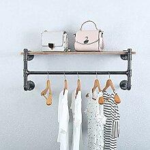 GWH Industrie-Rohr-Kleiderständer, Wandmontage,