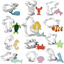 GWHOLE Ausstechformen-Set Meerestiere für Kinder,
