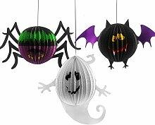 Gwill Halloween Papier Laterne Ghost Fledermaus
