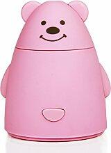 Gwood Kreative Büro Cartoon Bären USB-Luftbefeuchter (Rosa)