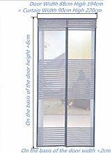GWQMM GWQ Fliegengitter Tür Insektenschutz Magnet - Klebmontage Ohne Bohren - Vorhang Für Balkontür Wohnzimmer Schiebetür Terrassentür,85*205Cm