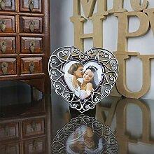 GWW Herzförmige Tischplatte Bilderrahmen,Silber