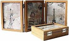 GWW Wooden Tri-Falten Bilderrahmen,doppel-Sided