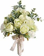 Gwxevce Hochzeit Brautstrauß Künstliche Rose