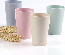 GWZZ Weizenstroh-Paar-Schalen-Haushalts-Plastik