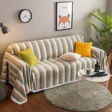 GX&XD Gestreift Spitze Sofa-Überwürfe,Aus Stoff