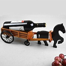 GX&XD Handgefertigte Kreative Weinregal,Holz