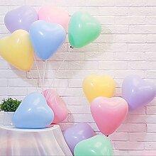 GX&XD Heart Shape Latex Luftballons,Macaron Farbe