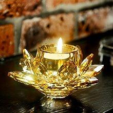 GX&XD Klarglas Kerzenleuchter Für Tisch