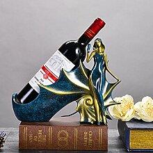 GX&XD Kreative Harz Weinflaschenhalter,Frau Modern