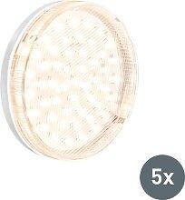 GX53 LED Lampe 3W 3000K 5er-Set