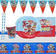 Gxhong 52 Stück Party Set, Paw Dog Patrol