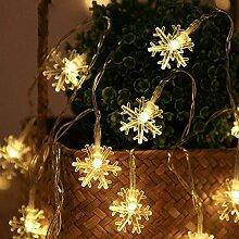 Gxhong Schneeflocke Lichterketten, Led