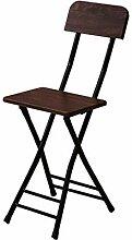 GXJ-stool Schlafzimmer Klappstuhl, Metall Holz