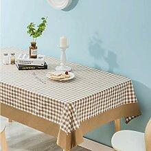 GXQ Plaid Tischdecke Stoff Modern Style Tischdecke