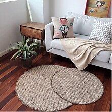 GXQ Runder Teppich braun gestreiften Boden