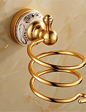 GXS Badezimmer Regal , Antik Aluminium Wandmontage , gold